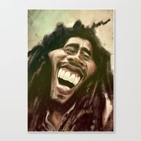 marley Canvas Prints featuring Marley by ideo