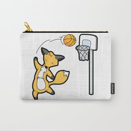 Basketball Playing Happy Fox Carry-All Pouch