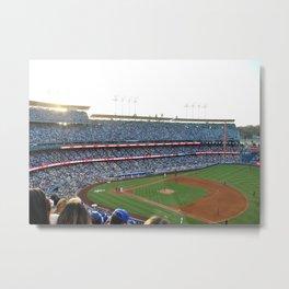 Dodgers Stadium in the Sun Metal Print