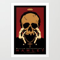 hamlet Art Prints featuring Hamlet by Chris Whetzel