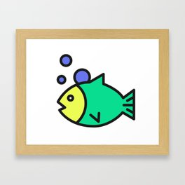 The Green Fish Framed Art Print