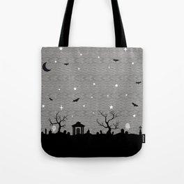 Spoopy Cemetery Print Tote Bag