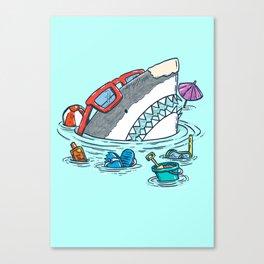 Beach Party Shark Canvas Print