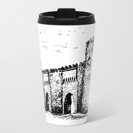 Old Tower Gate Ink Art Travel Mug