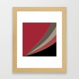 22 Abstract geometric pattern Framed Art Print
