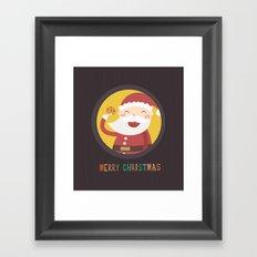 Day 24/25 Advent - Santa's Cookie Framed Art Print