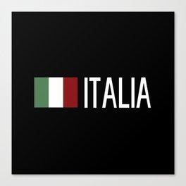 Italy: Italia & Italian Flag Canvas Print