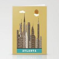 atlanta Stationery Cards featuring Atlanta city vintage by bri.buckley