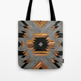 Urban Tribal Pattern No.6 - Aztec - Concrete and Wood Tote Bag