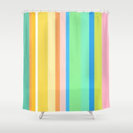 Springtime Stripes Shower Curtain