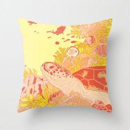 Blood Turtle Throw Pillow