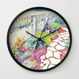 into the garden Wall Clock