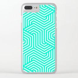 Sea green (Crayola) - heavenly - Minimal Vector Seamless Pattern Clear iPhone Case