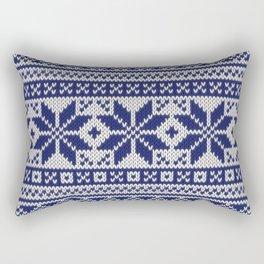 Winter knitted pattern 5 Rectangular Pillow