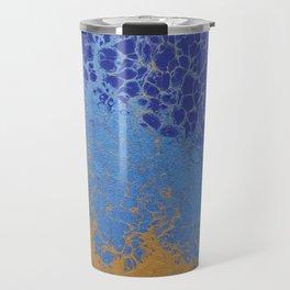 Blue and Gold 01 Travel Mug