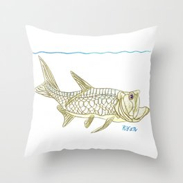 Key West Tarpon II Throw Pillow