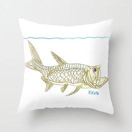 Key West Tarpon II Throw Pillow