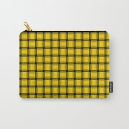 Small Gold Yellow Weave Carry-All Pouch