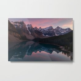 Moraine Lake Sunset Metal Print