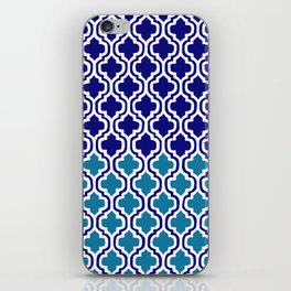 Moroccan Blue tile pattern1 iPhone Skin