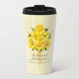 The scent of Freesia Travel Mug