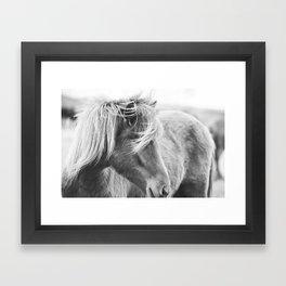 Modern Rustic Horse Framed Art Print