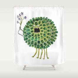 Poofy Plactus Shower Curtain