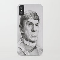 spock iPhone & iPod Cases featuring Spock by Olechka