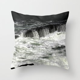 Smooth Beach Rocks, OR Throw Pillow