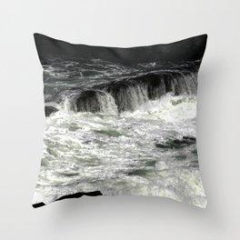Smooth Beach Rocks, OR Throw Pillow