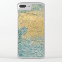 Copper Turquoise #03 Abstract Texture Clear iPhone Case