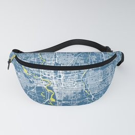 COLUMBUS Map Ohio   Blue & Yellow   More Colors, Review My Collections Fanny Pack