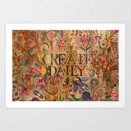 createdaily Art Print