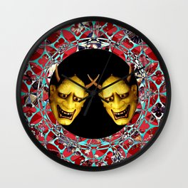 Kooky Kabuki II (Just Say Noh) Wall Clock
