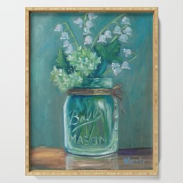 Jar of Lilies of the valley Serving Tray
