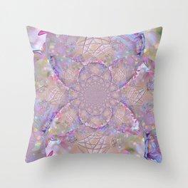 Merkaba In The Garden Of Eden Throw Pillow