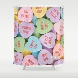 THC Valentine Shower Curtain