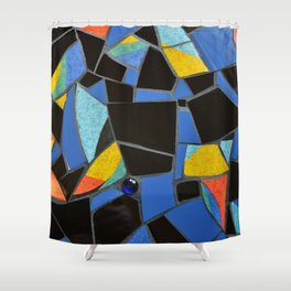 Toucan Dance Mosaic Shower Curtain