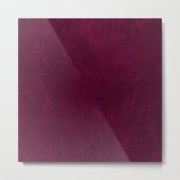 Hand painted modern abstract burgundy marble watercolor Metal Print