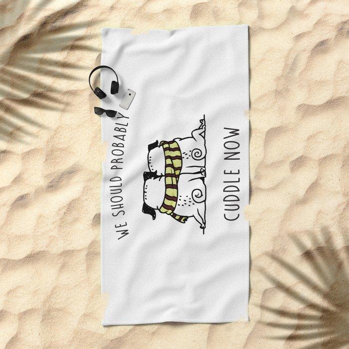 Cuddle Now Beach Towel