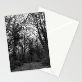 Monochromatic forest path Stationery Cards