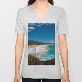 Big Beach from Little Beach Unisex V-Neck