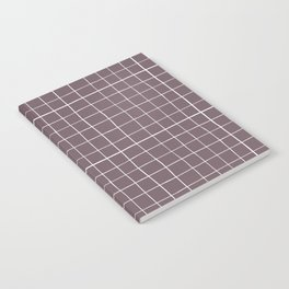 Dusty purple plaid Notebook