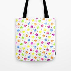 Cute retro hen and flowers Tote Bag