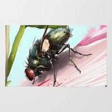 Fly on a flower 15 Rug