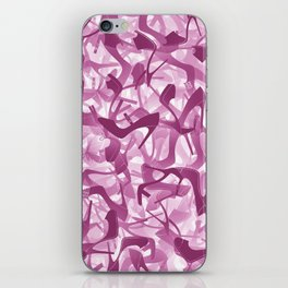 Pink shoes camouflage iPhone Skin