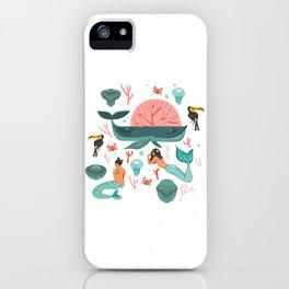 Mermaids summer iPhone Case