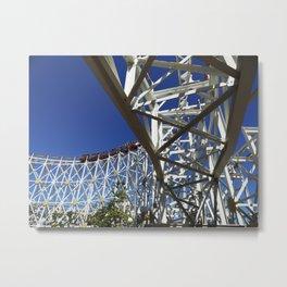 California Scream-in' Coaster II Metal Print