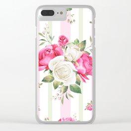 Belle époque flower power Clear iPhone Case