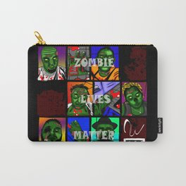 Zombie Lives Matter Collage Carry-All Pouch